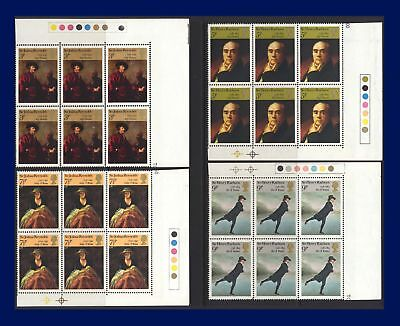 1973 SG931-934 3p-9p Paintings Set (4) Traffic Light Blocks MNH afzh