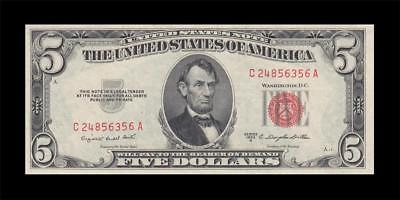 1953-B UNITED STATES NOTE $5 **Consecutive 1 of 2** (( GEM UNC ))