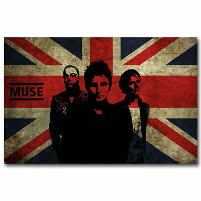 59279 MUSE Rock English Music Band Flag FRAMED CANVAS PRINT Toile