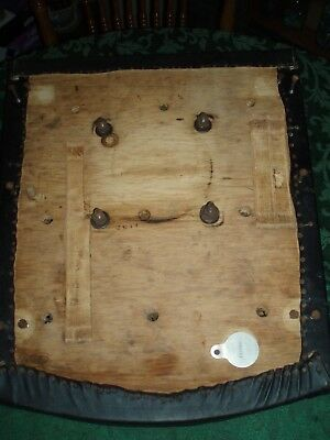 THEO KOCHS BARBER CHAIR SEAT W/ MOUNTING SCREWS - Original Parts Good Condition