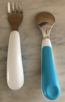 OXO tot Fork & Spoon Set Aqua