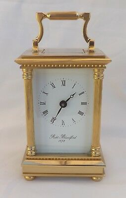 Vintage Robt Blandford 1873 Brass Carriage Clock For Repair