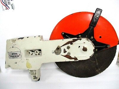 STIHL TS 510av Electronic CONCRETE CUT OFF SAW BLADE GUARD W/ ARM FOR PARTS ONLY