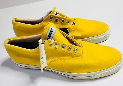 NWT Converse Men's Skid Grip Canvas Sneakers Made In USA 80's Yellow 10.5