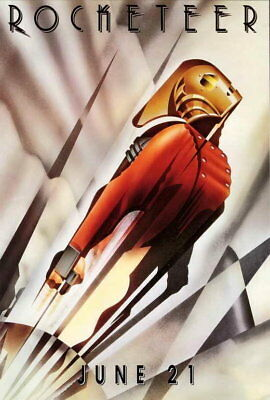 65884 The Rocketeer Billy Campbell Jennifer Connelly FRAMED CANVAS PRINT Toile
