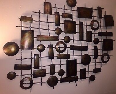 Modern Abstract Metal Wall Art Painting Sculpture Home Decor Rustic