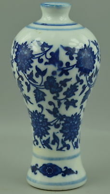 Collectibles Decor Old Porcelain Drawing Blooming Flower Rare Delicate Vase