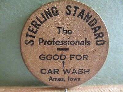 Sterling Standard Wooden Nickel, Ames, Iowa.Good For 1 Car Wash