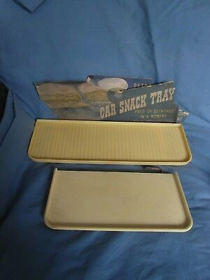 Vintage folding picnic trays (2) 1950's, 60's - for cars - VERY RETRO