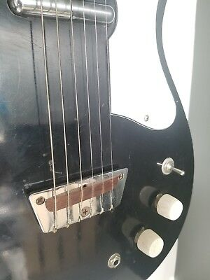 1960 Silvertone U1 Dolphin Head Model 1419 Electric Guitar Danelectro