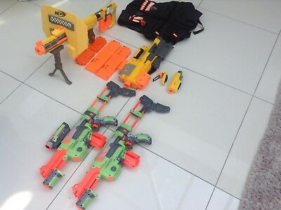 Nerf Gun Bundle (including 2 Vortex guns) with Accessories