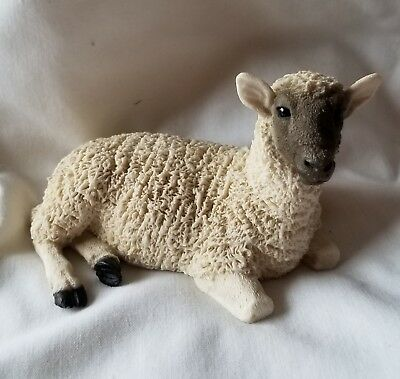 Vintage 1988 Lamb  Sheep Figurine Signed Castagna Made in Italy