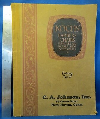 1926 Koch's Barber's Chairs & Barber Shop Accessories catalog No. 39, Nice!