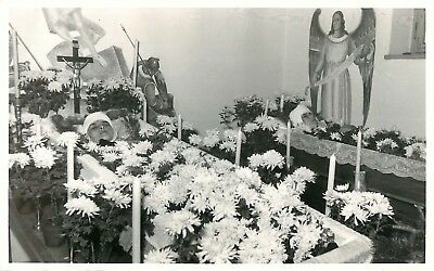 Post Mortem 2 Young Boys in Coffins in a Chapel side by side German Photographer