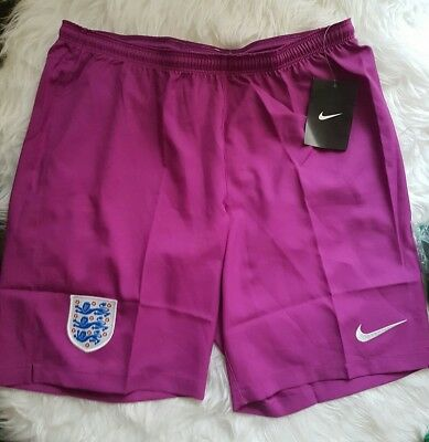 Mens womens Nike England team Shorts Football Soccer beach size L purple pink