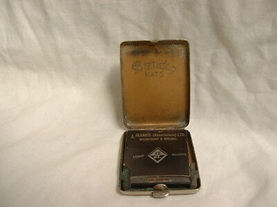Antique 1920s Art Deco Silver Plated Advertising Match Safe Vesta Battersby Hats