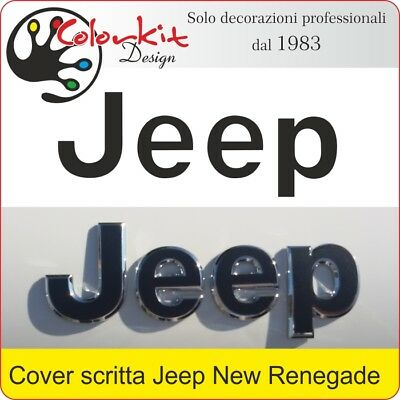 Cover adesiva per scritta Jeep Renegade dal 2014 - By Colorkit 001363