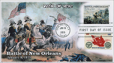 SC 1261 and NEW, 2015, Battle of New Orleans, War of 1812, Duel Cover, FDC