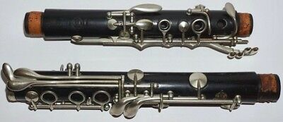 Antique Selmer Clarinet K9226 Marked Made In France With Case & Mouthpiece