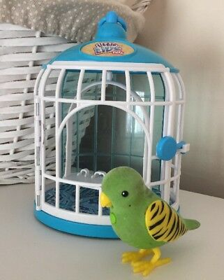 Little Live Pets Green Bird and Cage