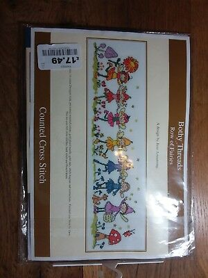 Bothy Threads - Row of Fairies by June Armstrong counted cross stitch New