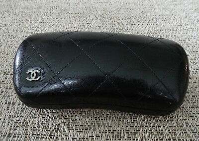 Chanel Black  Signature Quilted Hard Sunglasses Case Italy