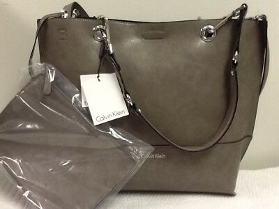 f8c4e83d24 Calvin Klein Sonoma Large Reversible Tote Crossbody Gray/Black Bag NWT