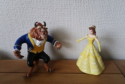 Vintage 1990s Just Toys Disney Beauty & The Beast - 2x Rubber Figures
