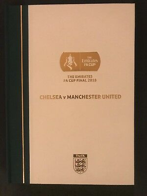 Fa Cup Final 2018 Limited Edition Hardback Programme Collectors Edition