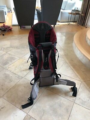 Kiddy Adventure Pack Child BackPack Carrier - color space grey / burgundy
