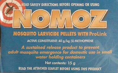 NOMOZ MOSQUITO PELLETS WITH PROLINK 15g  New & Sealed