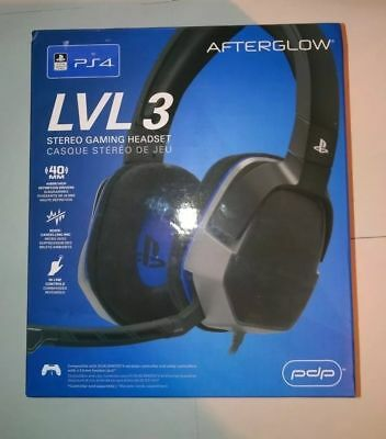 PDP Sony PS4 Afterglow LVL 3 Gaming Headset New Model