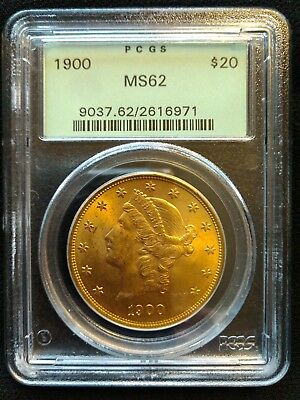 1900 United States $20 PCGS MS 62 Gold Liberty Double Eagle Coin