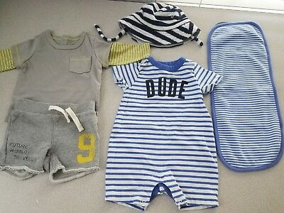 Baby Boys 0-3 Month Striped Baby Gap Clothing Lot Euc & Nwt 5 Pieces!