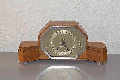 ELLIOTT Rare - Art Deco mantle clock. Made in England. Working order. Walnut.