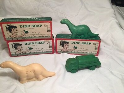 5 Vintage Original Sinclair Soaps Dino And Truck