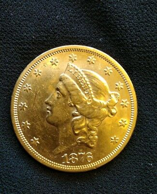 1876 S United States $20 Liberty Head Gold Double Eagle
