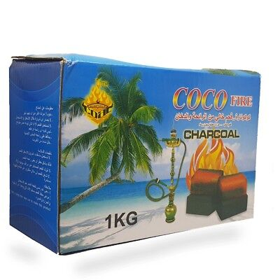 1kg COCO Fire 72 Coconut Charcoal Coal Cubes Full Box Shisha Hookah Smoking Pipe
