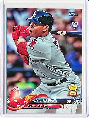 Rafael Devers 2018 Topps Series 1 RC Rookie #18 Boston Red Sox