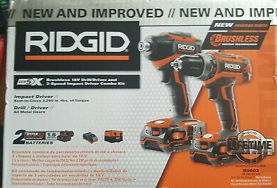 RIDGID GEN5X Brushless 18V Drill / Driver and 3 Speed Impact Driver Combo Kit