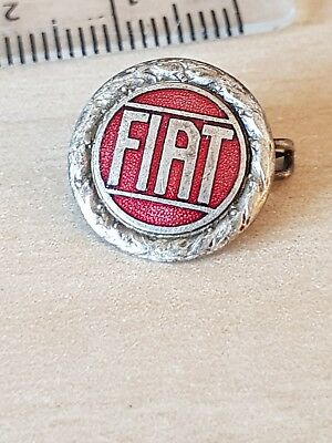 C1960S VINTAGE FIAT PROMOTIONAL ENAMEL LAPEL BADGE never opened or worn