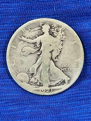 1921 P Liberty Walking Half Dollar, Second Lowest Production and Key to Series.