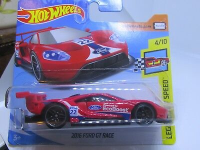 Hot Wheels   Ford Gt Race New On Card Legends Of Speed