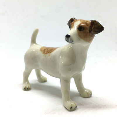 Handpainted Miniatures Collectible Ceramic Jack Russell Terrier FIGURINE Animals