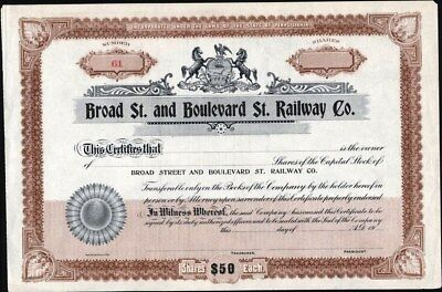 Broad St. And Boulevard St. Railway Co, Of Pennsylvania
