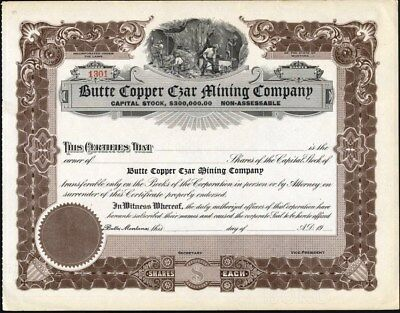 Butte Copper Czar Mining Company, Of Montana