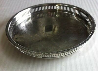 Viking Silver Plated Round Edged Serving Tray