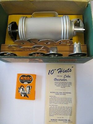 Vintage Mirro Cooky and Pastry Press COMPLETE w/ manual and insert! from 1948