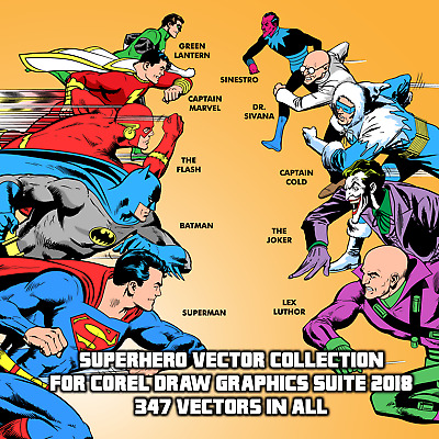Superhero Vector Clipart Collection For Corel Draw Graphics Suite