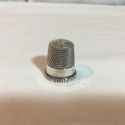 Antique Early 1900s Sterling Silver Thimble Size 10 Mono G.?. McK & D